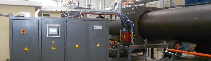 "700 kW compact plant for pipe coating from 20"" up to 60"""
